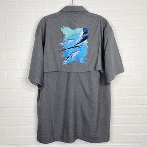 Guy Harvey Button Down Vented Short Sleeve 2XL